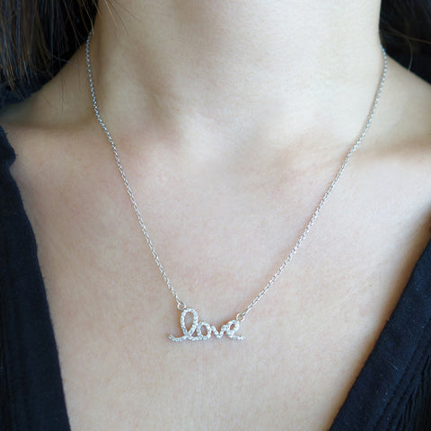 Dainty .1 ct Double Heart Necklace