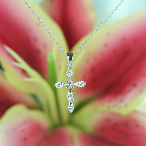 1 ctw Accented Round Solitaire Necklace