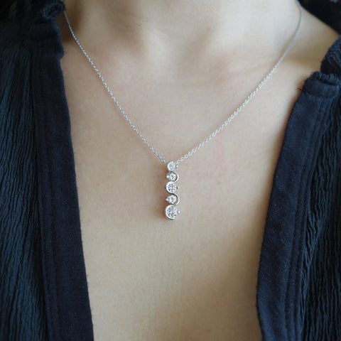 3 Stone Swirl Necklace