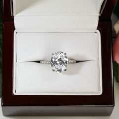 4 ctw Oval Accented Ring - Size 9