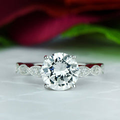 2.25 ctw Wide Art Deco Solitaire Ring