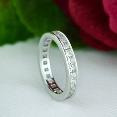 2 ctw Princess Channel Eternity Band