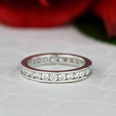 1 ctw Round Channel Eternity Band