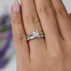 1 ctw Princess Solitaire Set