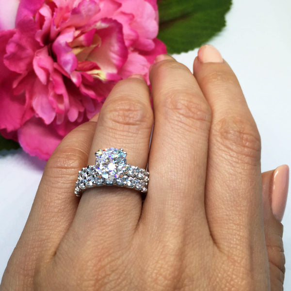 4 ctw Solitaire Eternity Set - Sz 7-10