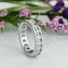 2 ctw Round Channel Eternity Band