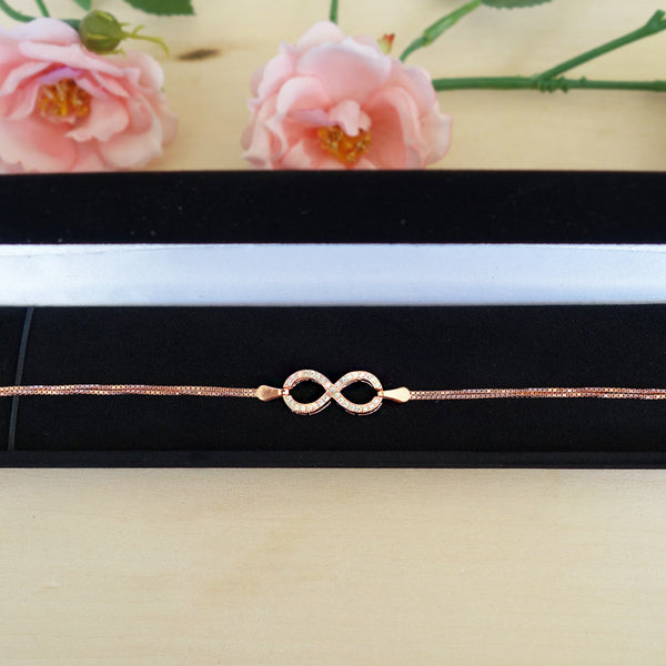 Accented Infinity Bracelet + Free Box - Rose GP