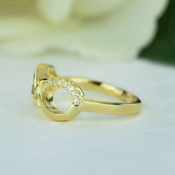 .1 ctw Accented Infinity Ring - Yellow, Final Sale