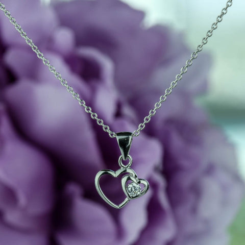 1/2 ctw Vintage Scroll Heart Necklace