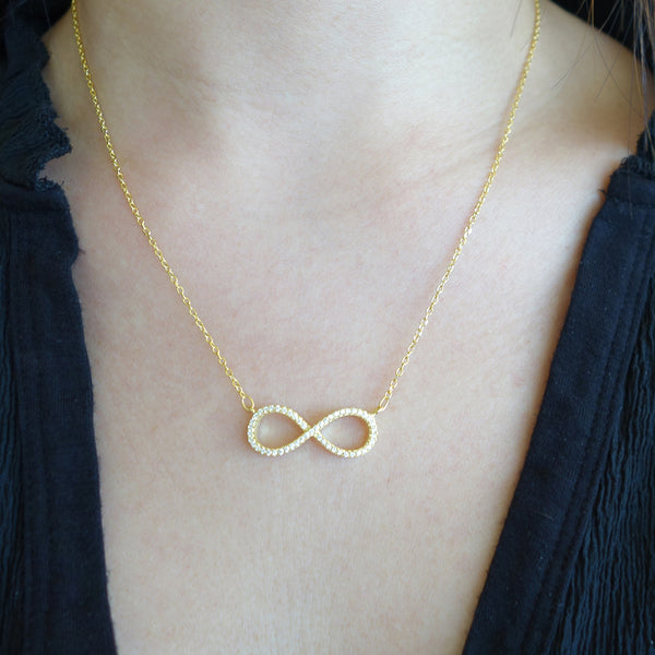 Infinity Necklace - Yellow