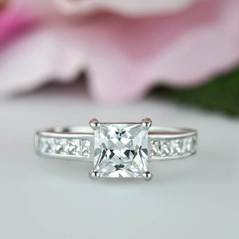 2.25 ctw Cushion Accented Ring - 40% Final Sale, Sz 9.25