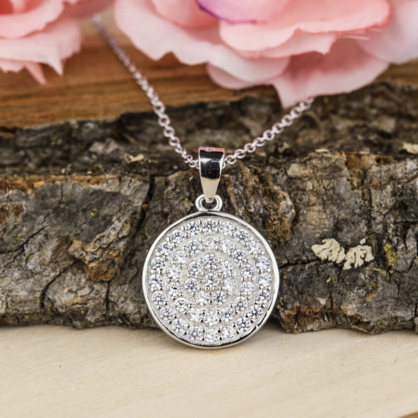 Round Disc Necklace