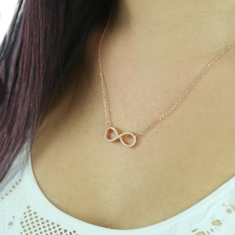 Bezel Love Necklace .1 ct, 40% Final Sale