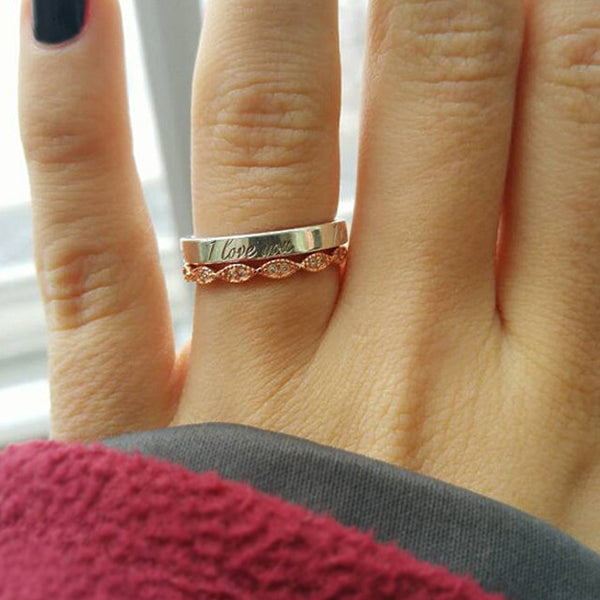 Art Deco Band - Rose Gold