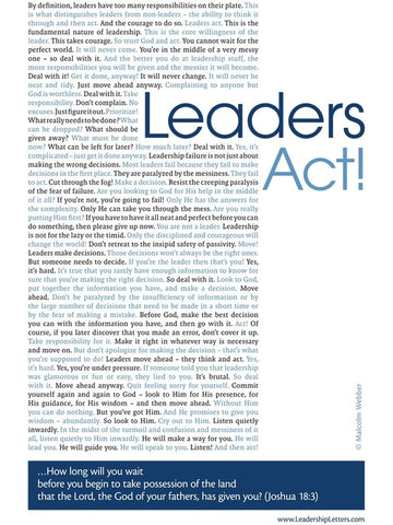 Leaders Act Poster