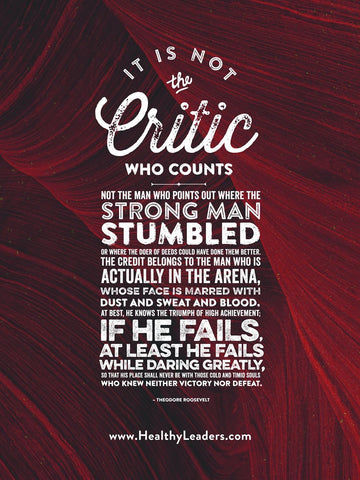 It Is Not The Critic Who Counts Poster
