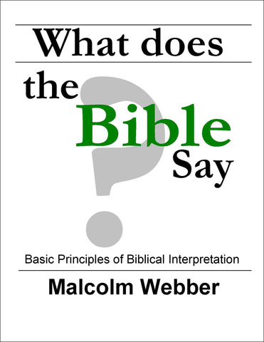 What Does the Bible Say? (eBook - PDF Download)