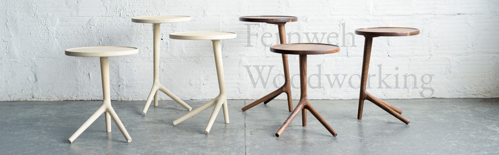Tripod Tables in Walnut by Fernweh Woodworking