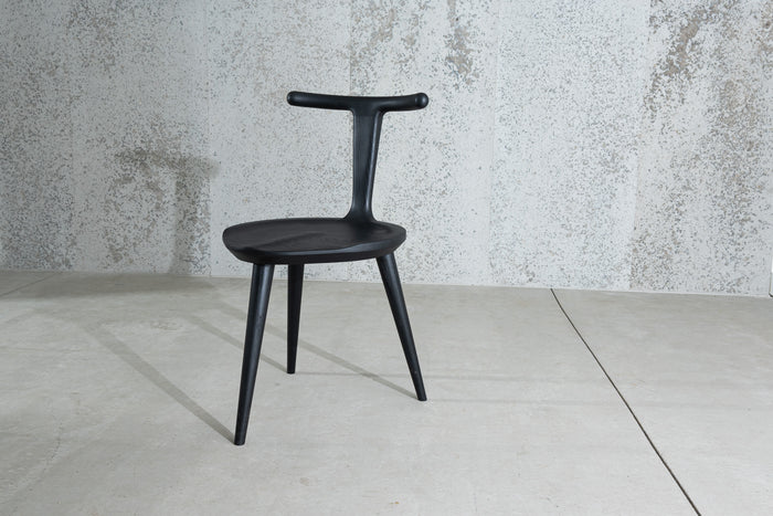 Oxbend Chair, 3 Legs - Charcoal Ash