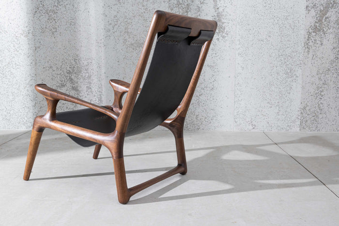 The Sling Chair Mod 2 - Walnut & Leather