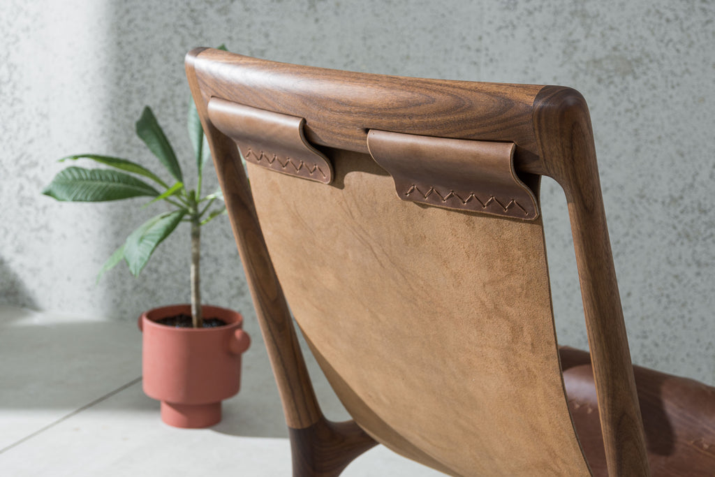 The Sling Chair - Walnut & Leather