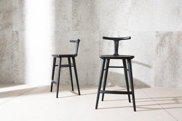 Oxbend Stool - Charcoal Ash
