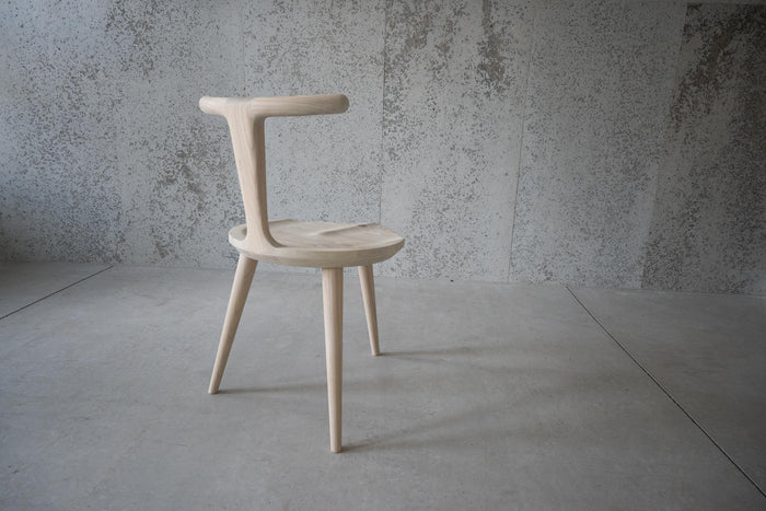 Oxbend Chair, 3 Legs - White Ash