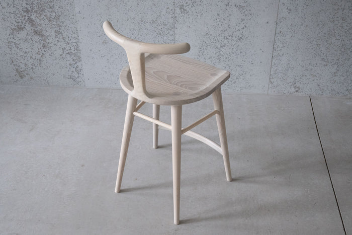 Oxbend Stool - White Ash