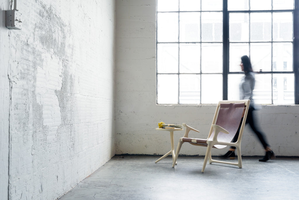 The Sling Chair - White Ash & Leather