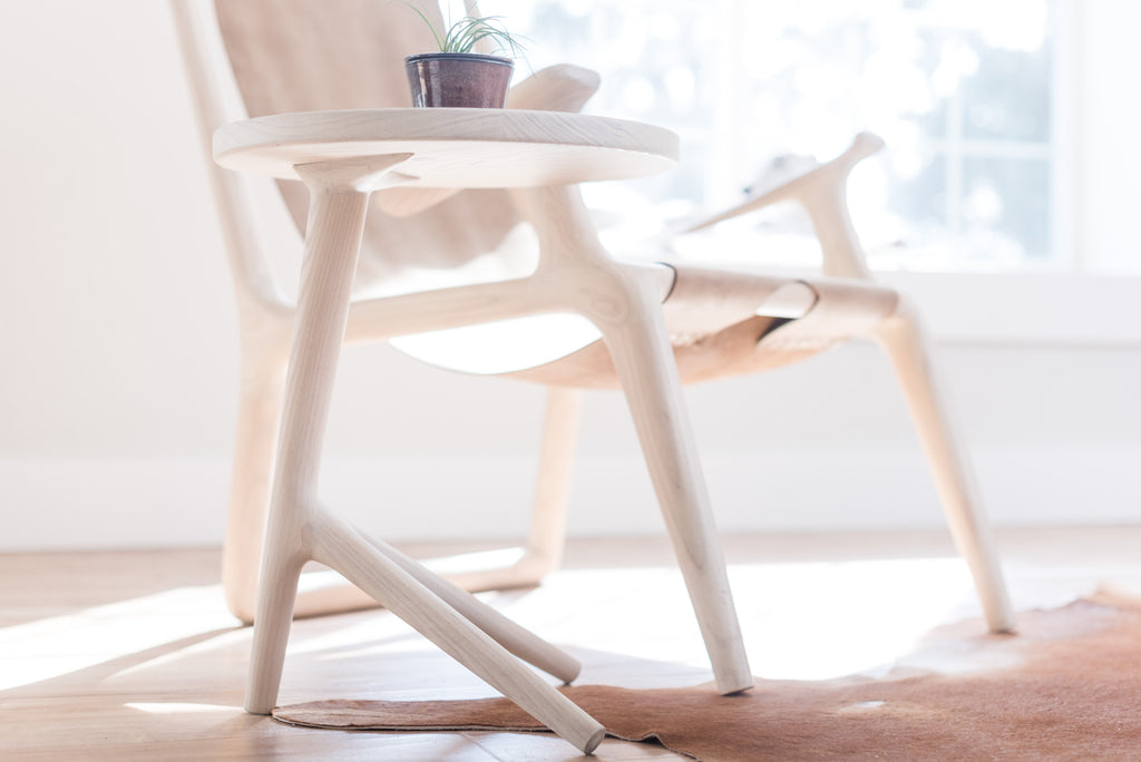 The Tripod Table - White Ash