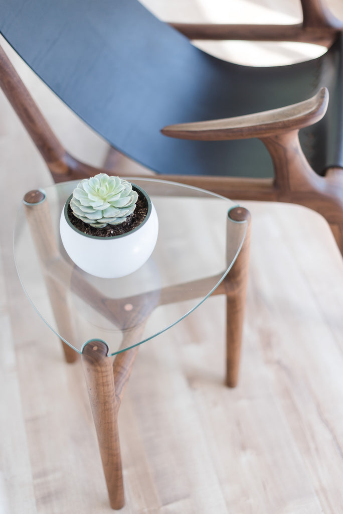 The Glass Triangle Table