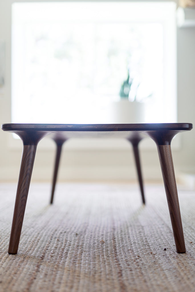 Walnut Coffee Table - Fernweh Woodworking - Danish Modern Accent Table
