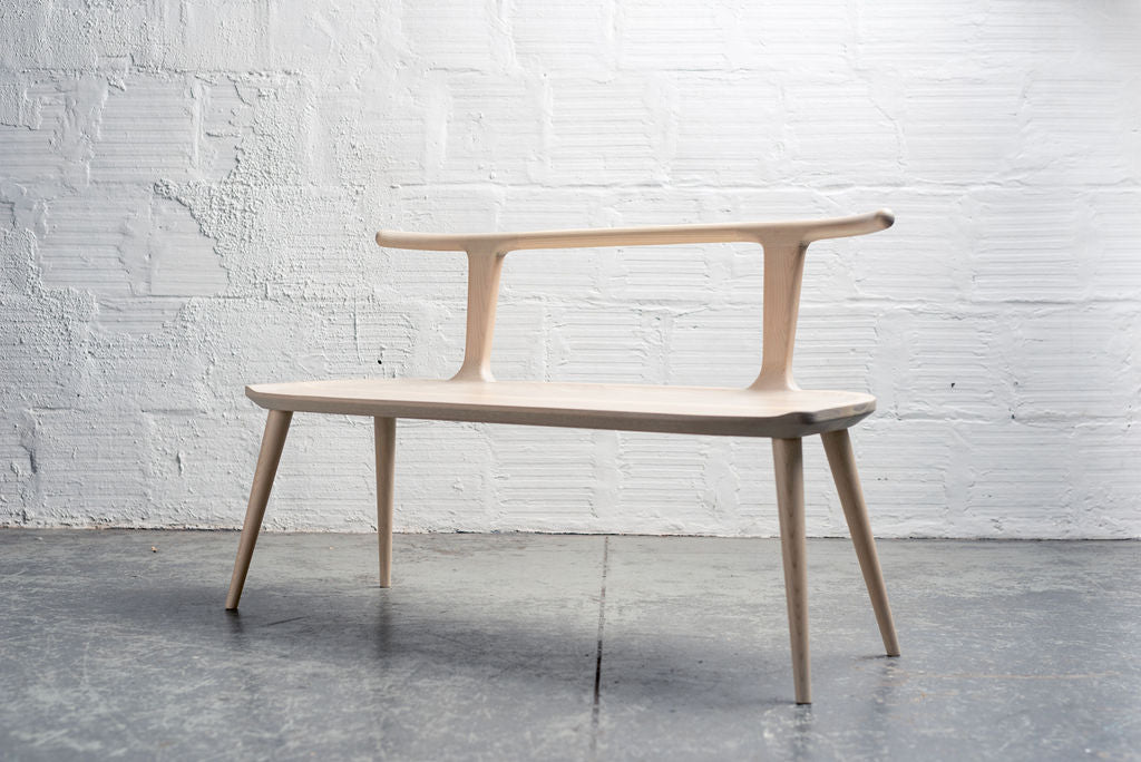 Oxbend Bench - White Ash
