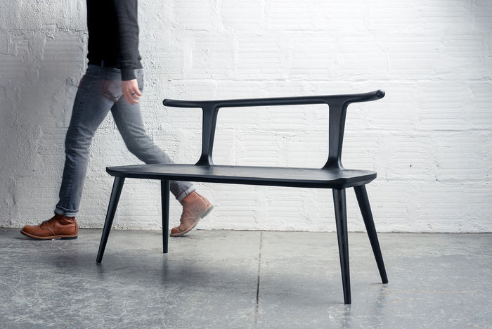 Oxbend Bench - Charcoal Ash