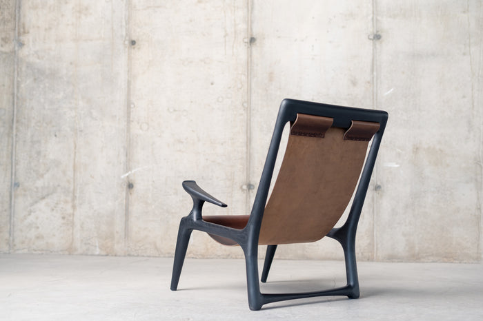 The Sling Chair - Charcoal Ash & Leather