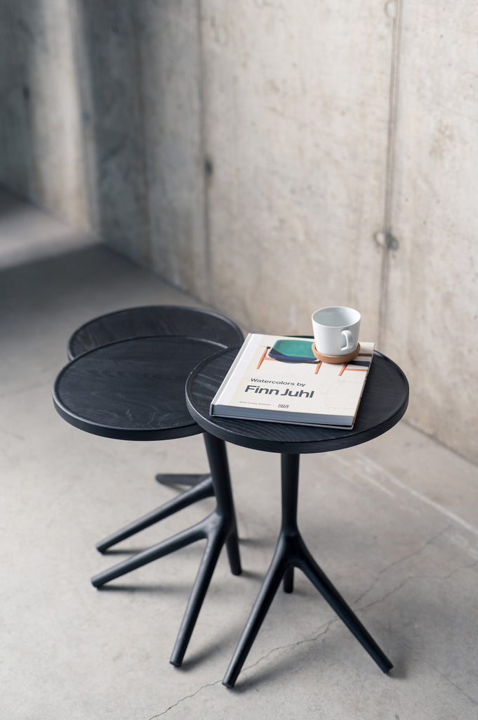 The Tripod Table - Charcoal Ash