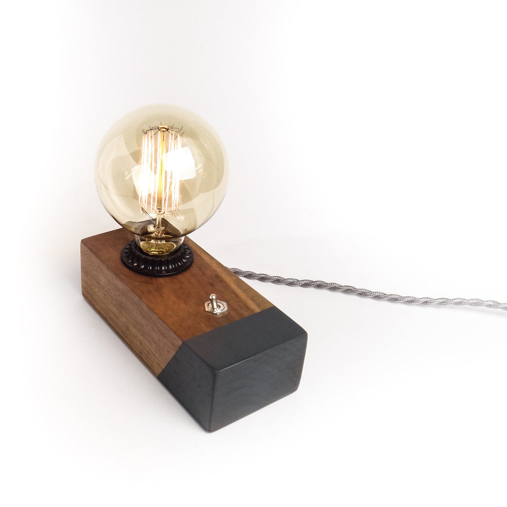 Desktop Edison Lamp, Walnut