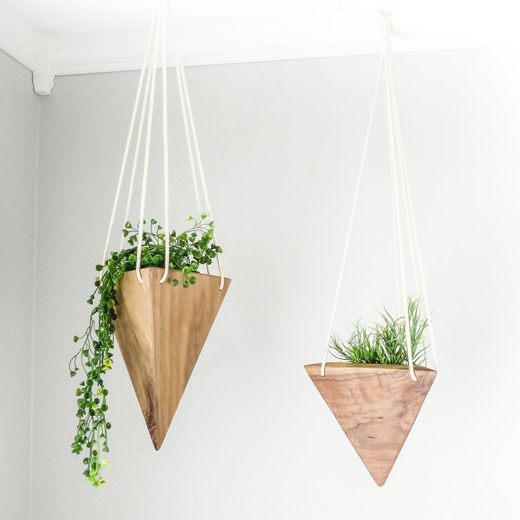 Geometric Planter Box Triangular Indoor Planter Wall Mounted Planter