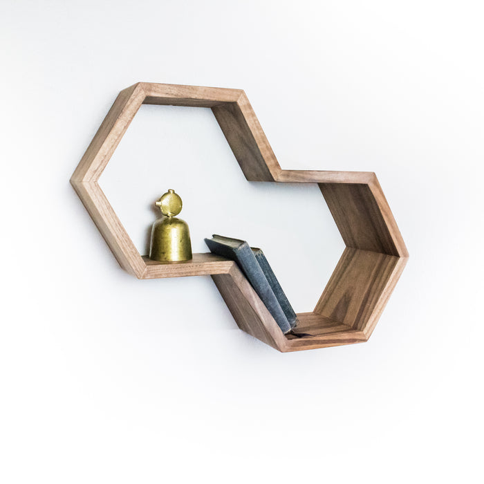 Dual Hexagon Shelf