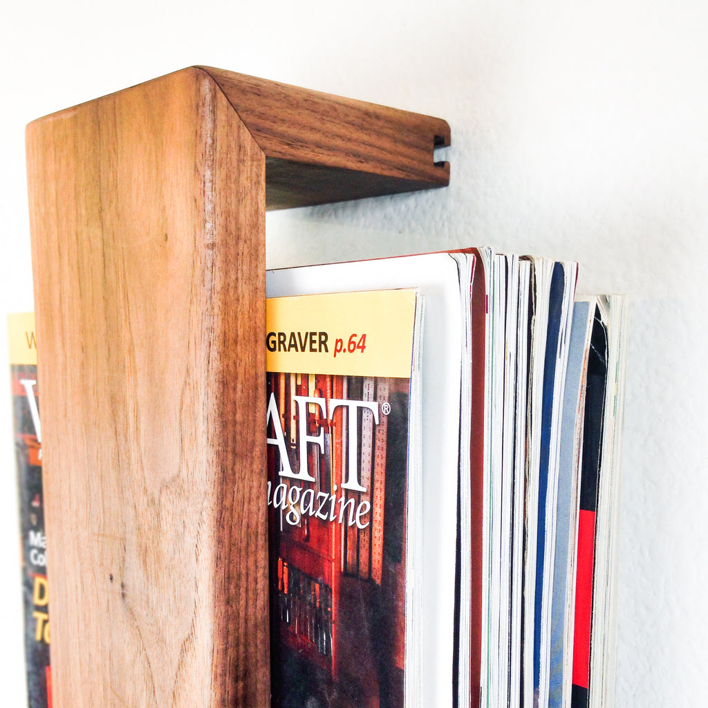 Floating Magazine Rack
