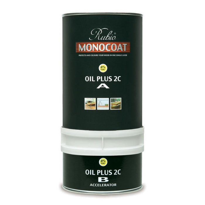 "Color ""Cotton White"" - Rubio Monocoat Oil Plus 2C - 1.3 L"
