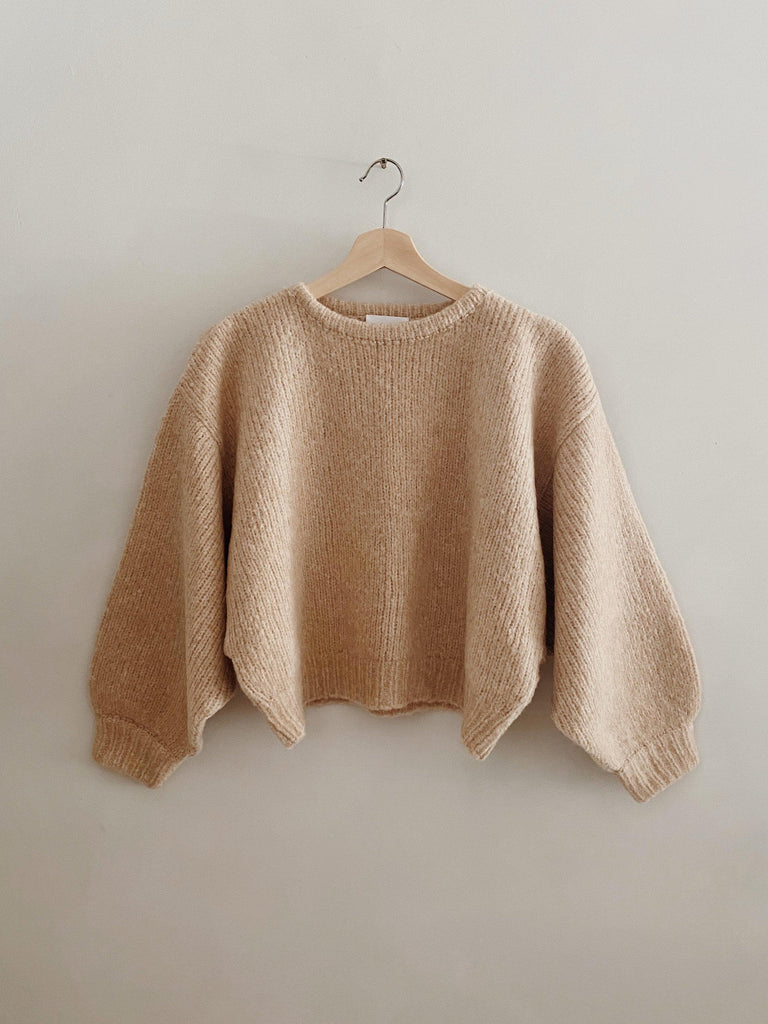 atelier delphine balloon sleeve sweater in grain