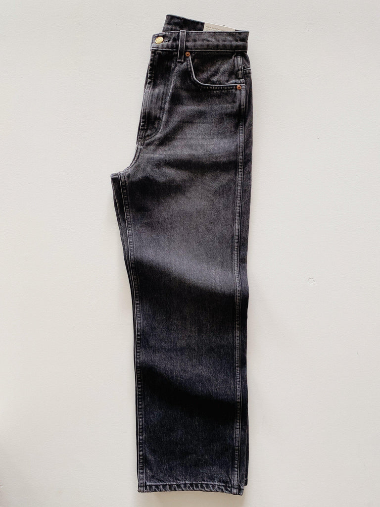 B SIDES plein jean in still black