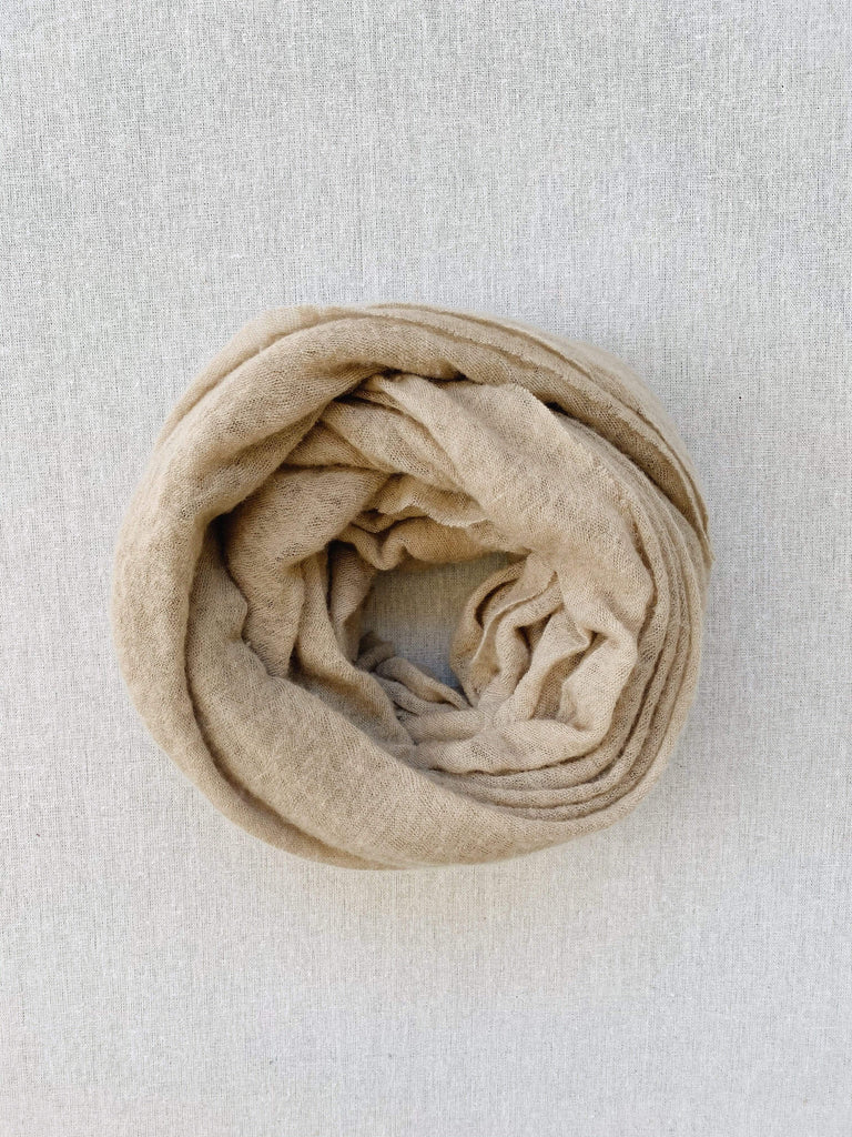 Botto Giuseppe Cashmere Scarf in Sand