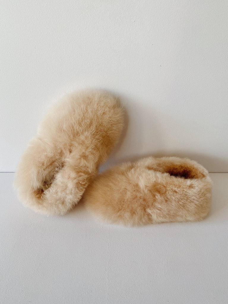 intiearth children's alpaca slippers