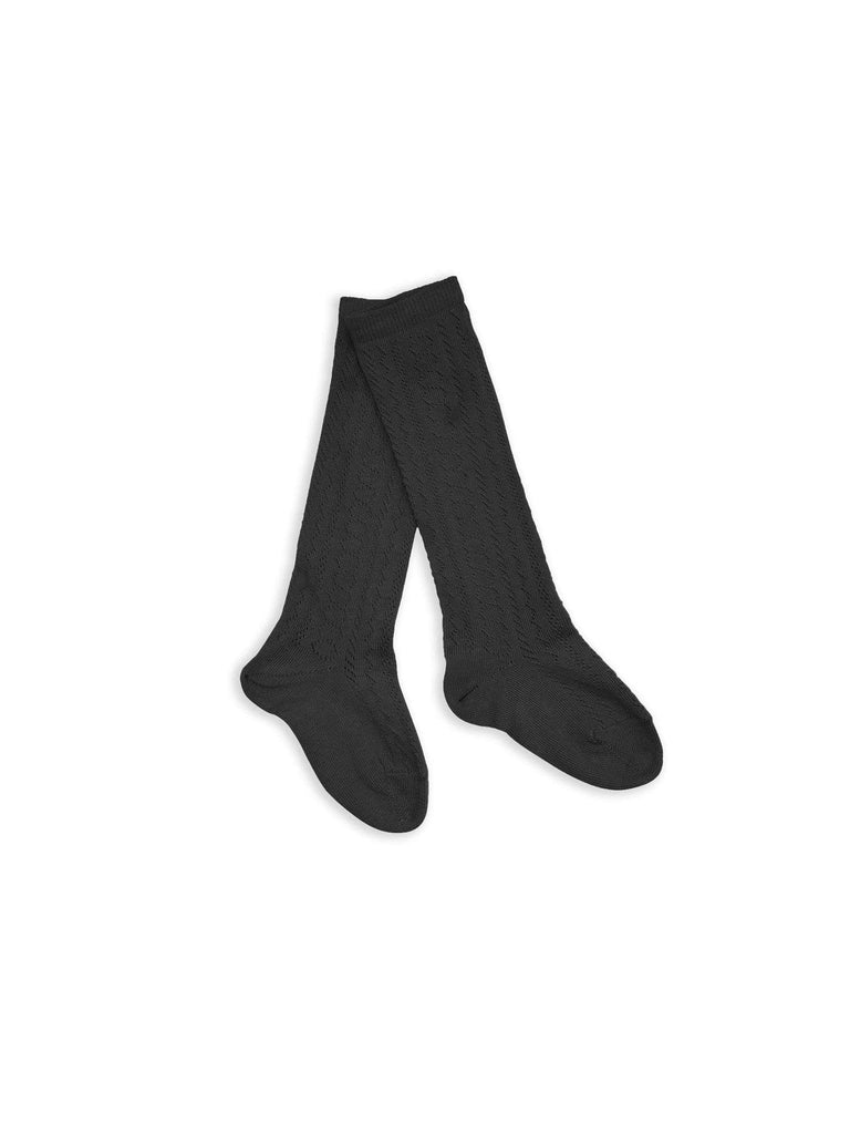 jeune jeune knee-high pointelle socks color no. 2