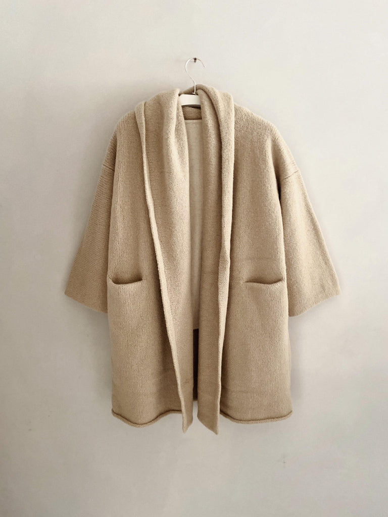 lauren manoogian capote coat in antique