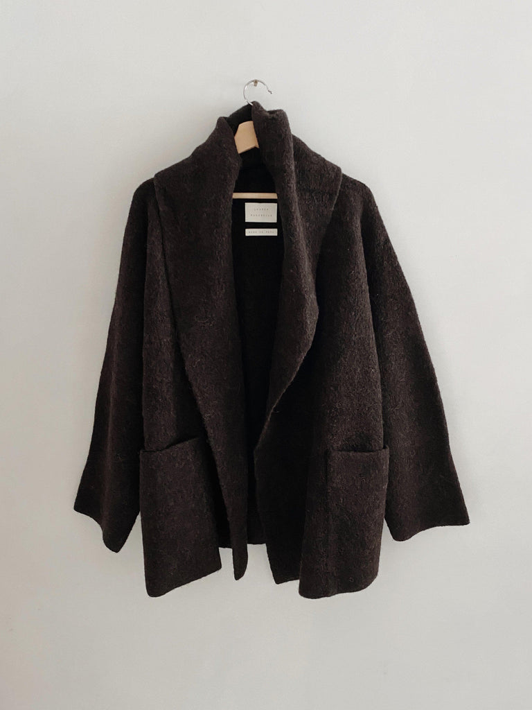 lauren manoogian ladouble face coat in monk