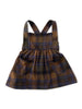 mabo annie pinafore in autumnal plaid