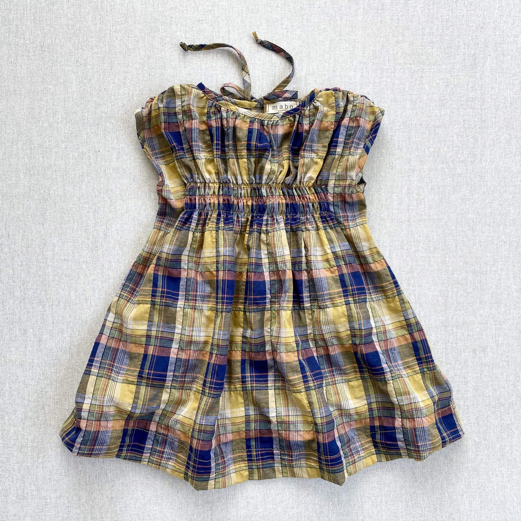 mabo auden dress in spring yellow madras